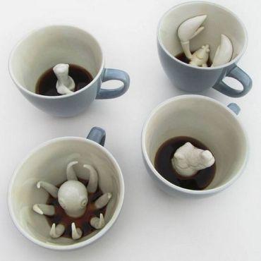 tazzina da caffè con animali