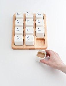 tazzina da caffè tasti numeri