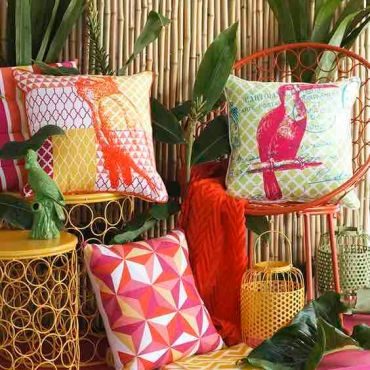 cuscini per stile tropical in quattro mosse