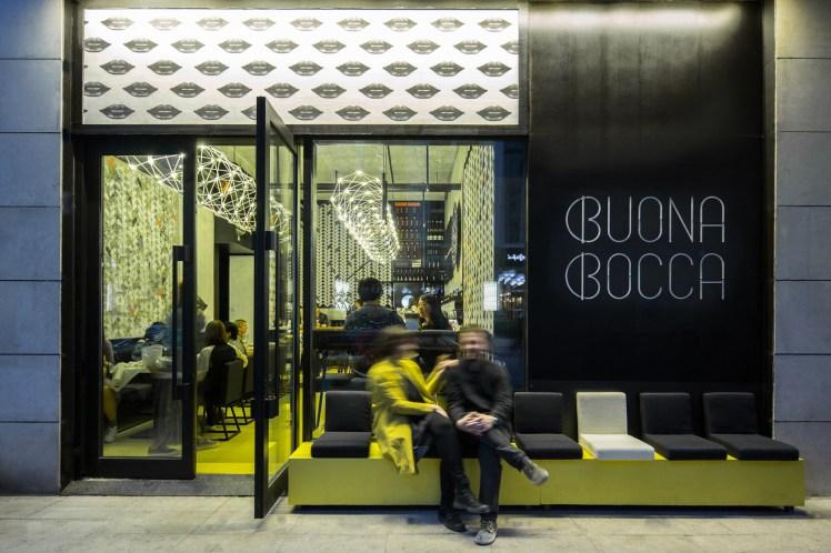esterno dell'italian winebar Boccabuona di Pechino