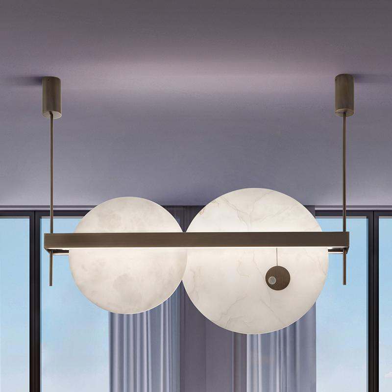 lampadario di lusso per sala da pranzo moderna